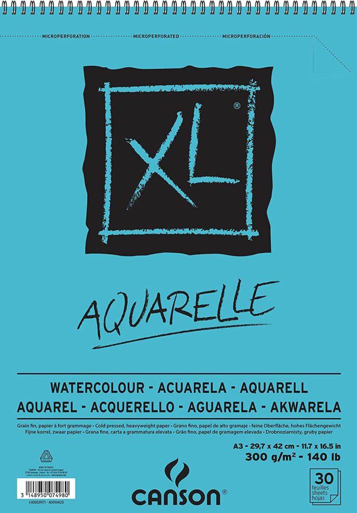 Aquarellblock für Anfänger Canson XXL