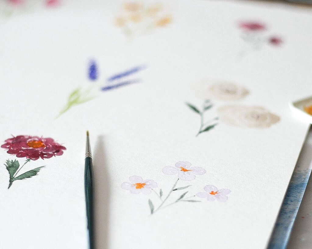 Aquarell Blumen malen für Anfänger: Tipps und Tricks